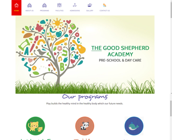 Website design for Children School