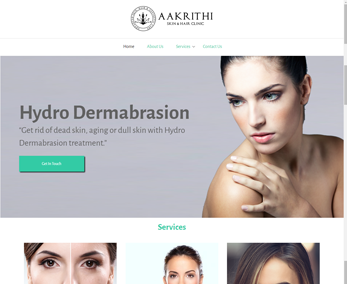 Website design for Cosmetic Clinic