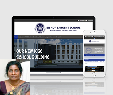 Website design for Bishop Sargent School