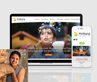Website design for Ankura Foundation