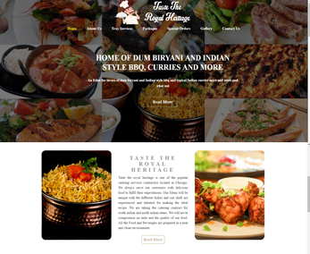 Website design for Catering Service