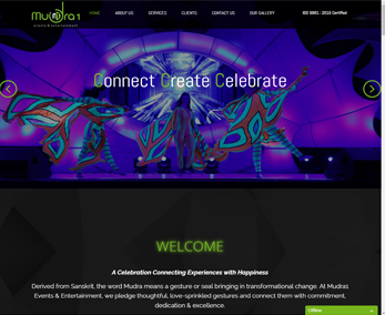 Website design for Event Management
