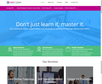 Website design for  Education Services