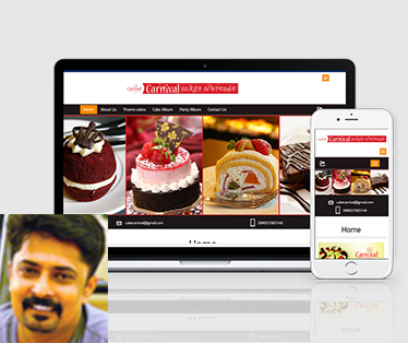 Website design for Carnival Cakes & Breads