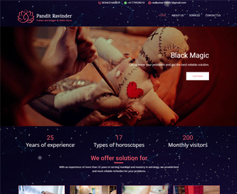Website design for Astrology