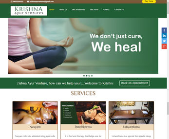 Website design for Healing Centre